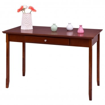 Wood Entryway Console Writing Desk With One Drawer
