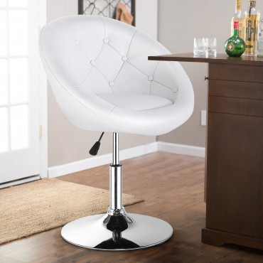 Round Tufted Back Accent Chair