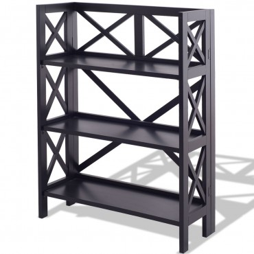3-Tier Folding Storage Bookshelf