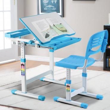 Multifunctional Height Adjustable Children's Desk Chair Set