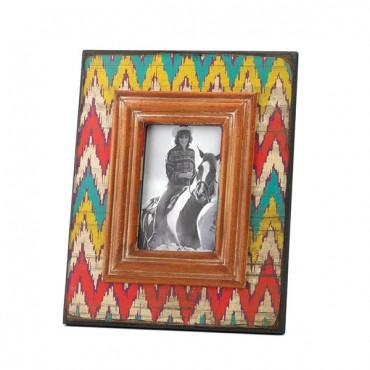 Ikat Chevron Wood Photo Frame 4 x 6