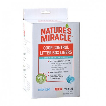 Nature's Miracle Odor Control Litter Box Liners - Jumbo - 27 Pack