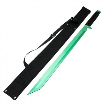Defender Xtreme 26 in. Green Ninja Sword Stainless Steel with Sheath