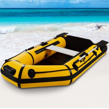 Goplus 2 Person 7.5 Ft Inflatable Fishing Tender Rafting Dinghy Boat