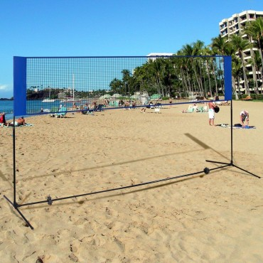 Portable 10 Ft. x 5 Ft. Beach Badminton Training Net W / Carrying Bag