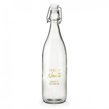 Vintage Water Bottle - Feelin Nauti Foiled Print