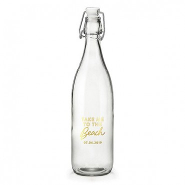 Vintage Water Bottle - Take Me To The Beach Foiled Print
