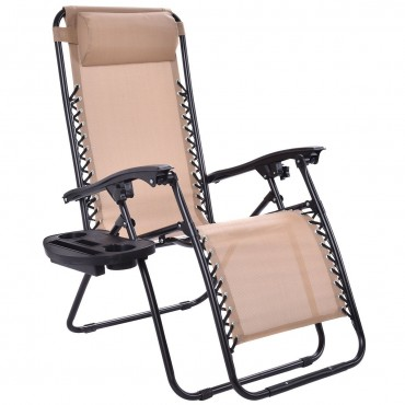 Outdoor Folding Zero Gravity Reclining Lounge Chair