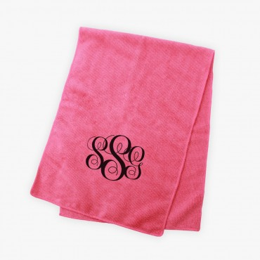 Kids Monogram Bright Microfiber Terry Sport Towel