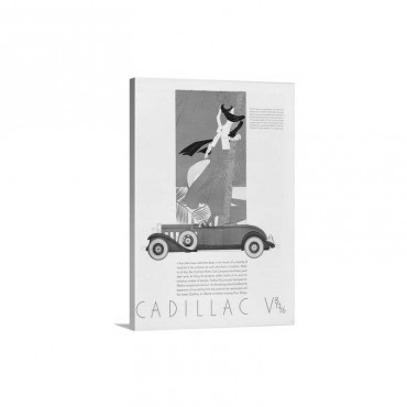 Cadillac V-8 Roadster Automobile Advertisement Wall Art - Canvas - Gallery Wrap