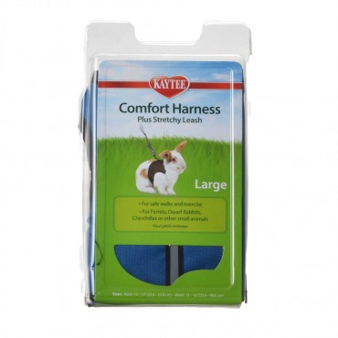 Kaytee Comfort Harness with Safety Leash - Large - 10 in. - 13 in. Neck and 13 in. - 16 in. Waist