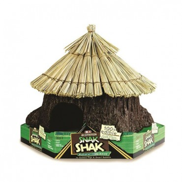 Ecotrition 100% Edible Snak Shak Natural Hide Away - Large - 10 in. Diameter x 11 in. Tall x 4 in. Opening