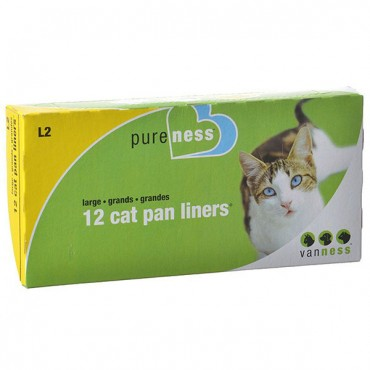 Van Ness Cat Pan Liners - Large - 12 Pack - 4 Pieces