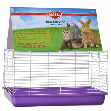 Kaytee Take Me With Travel Center for Small Pets - Large - 16.5 in. L x 10.37 in. W x 11 in. H