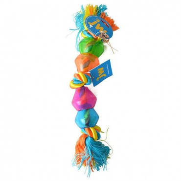 JW Pet Triple Knot Treat Pod Dog Toy - Large - 18 in. Long - 2 Pieces