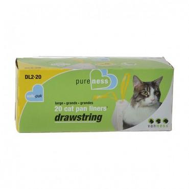 Van Ness Drawstring Cat Pan Liners - Large - 20 Pack