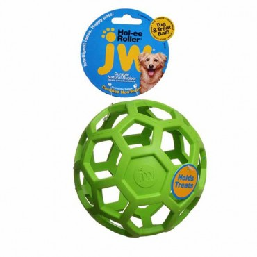 JW Pet Hol-ee Roller Rubber Dog Toy - Assorted - Large - 6.5 in. Diameter - 1 Toy - 2 Pieces