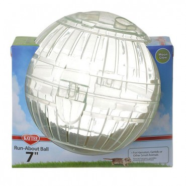 Kaytee Run-About Ball - Moon Glow - Large - 7 in. Diameter - 3 Pieces