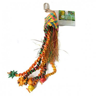 Hari Rustic Treasures Star Basket Bird Toy - Large - Assorted Colors