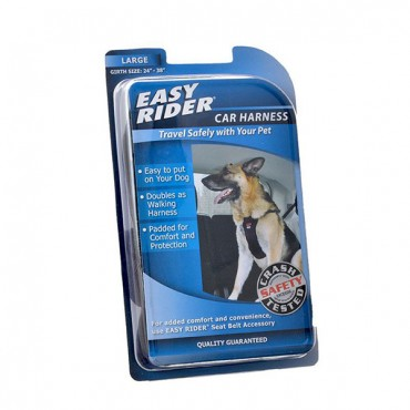 Coastal Pet Easy Rider Car Harness - Black - Large - Girth Size 24 in. - 38 in.