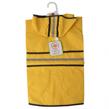 Fashion Pet Rainy Day Dog Slicker - Yellow - Large 19 - 24 From Neck Base to Tail