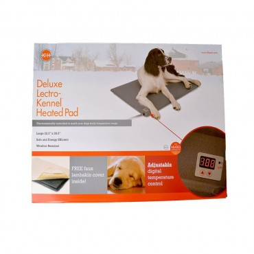 K and H Lectro-Kennel Heated Pad - Delux - Large - 28.5 Long x 22.5 Wide