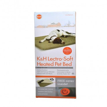 K and H Pet Products Lectro Soft Heating Bed - Indoor Outdoor - Large - 36 L x 25 W x 1.5 H