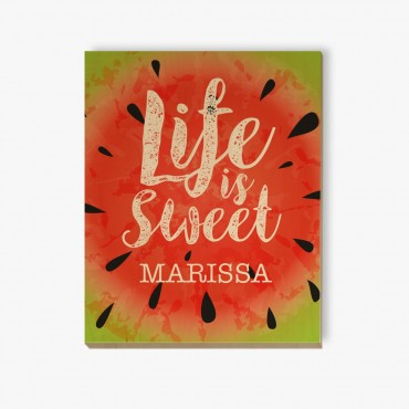 Life Is Sweet Customized Wood Wall Art