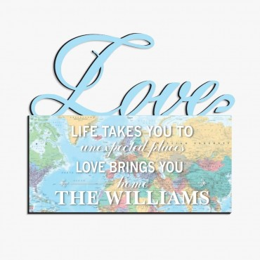 Life Personalized Love Wall Sign