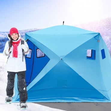 Waterproof Pop-up 4 Persons Ice Shelter Fishing Tent