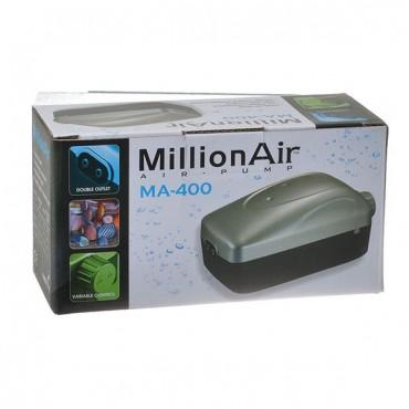 Via Aqua Million Air Pump - MA 400 - 2 Air Outlet - 50 Gallon Tank