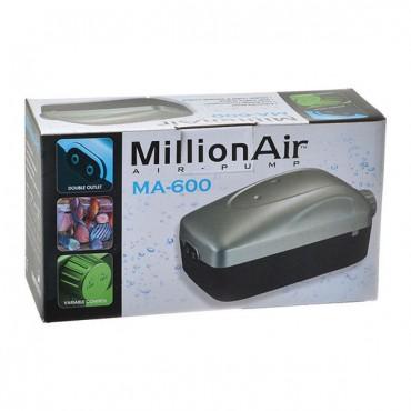 Via Aqua Million Air Pump - MA 600 - 2 Air Outlet - 100 Gallon Tank