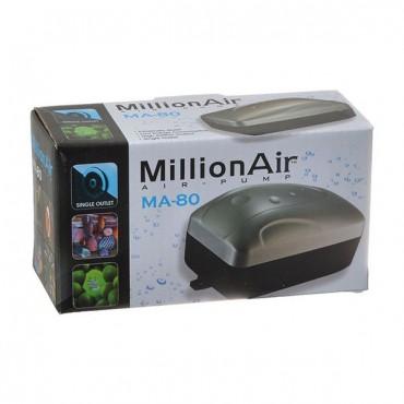 Via Aqua Million Air Pump - MA 80 - 1 Air Outlet - 10 Gallon Tank