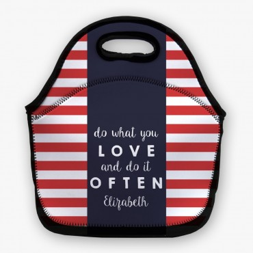 Do What You Love Personalized Lunch Bag