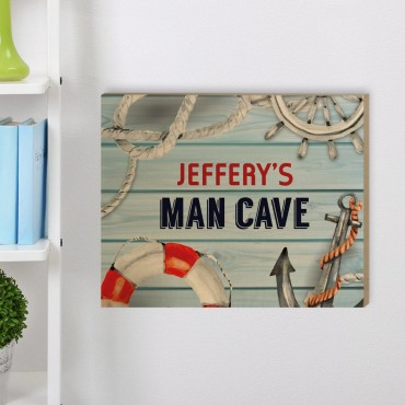 Man Cave Customized Wood Wall Art