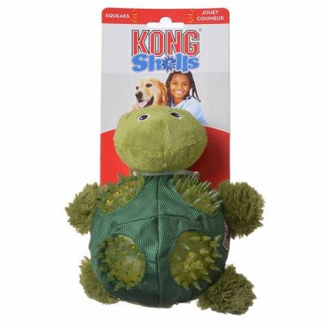 Kong Shells Textured Dog Toy - Turtle - Medium - 1 Pack - 2 Pieces