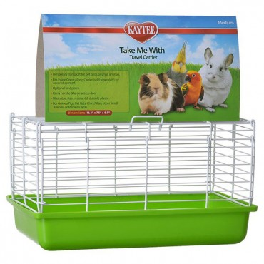 Kaytee Take Me With Travel Center for Small Pets - Medium - 13 in. L x 8 in. W x 7.5 in. H