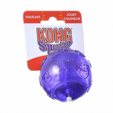 Kong Squeezz Ball Dog Toy - Assorted - Medium - 2.5 in. Diameter - 4 Pieces