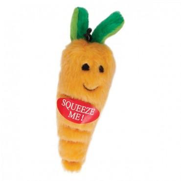 Booda Soft Bite Carrot Dog Toy - Medium - 9 in. Long - 4 Pieces