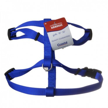 Coastal Pet Nylon Adjustable Harness - Blue - Medium - Girth Size 18 in. - 30 in.