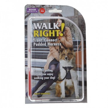 Coastal Pet Walk Right Padded Harness - Red - Medium - Girth Size 20 in. - 30 in.