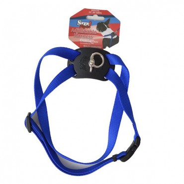 Coastal Pet Size Right Nylon Adjustable Harness - Blue - Medium - Girth Size 24 in. - 30 in.