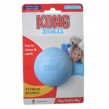 Kong Puppy Ball with Hole - Medium/Large - 2 Pieces