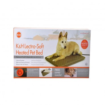 K and H Pet Products Lectro Soft Heating Bed - Indoor Outdoor - Medium - 24 L x 19 W x 1.5 H