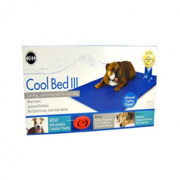 K and H Pet Products Cool Bed III with Blue Cushion - Medium - 32 Long x 22 Wide For Dogs up to 60 lbs