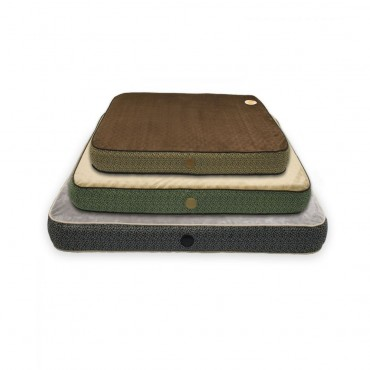 K and H Superior Orthopedic Bed - Mocha with Paw and Bone Print - Medium - 40 L x 30 W x 5 H