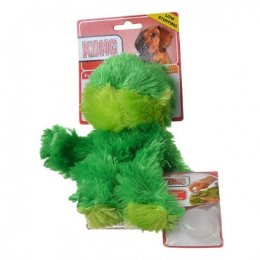 Kong Plush Frog Dog Toy - Medium - 2 Pieces