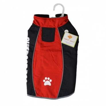 Fashion Pet Outdoor Dog All Weather Jacket - Red - Medium - Fits 14 - 19 Neck to Tail