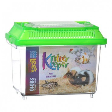 Lees Kritter Keeper with Lid - Mini - 7.13 in. L x 4.38 in. W x 5.5 in. H - 2 Pieces