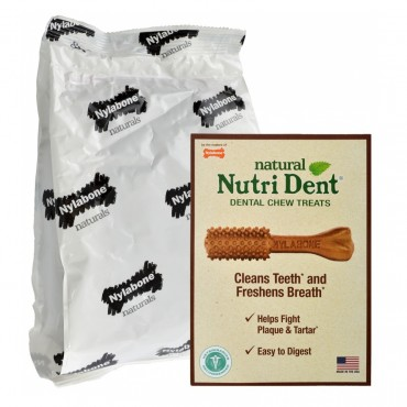 Nylabone Nutri Dent Natural Dental Chew Treats - Filet Mignon Flavor - Mini - 125 Count - Dogs up to 10 lbs
